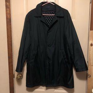 Stafford Men's Black Trench Coat